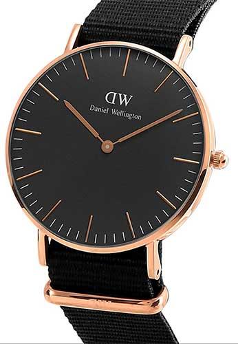 Daniel Wellington Unisex-Armbanduhr Schwarz