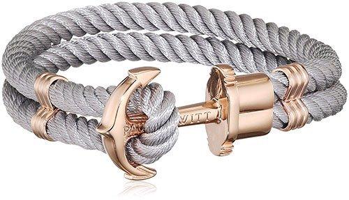 PAUL HEWITT Anker Armband grau