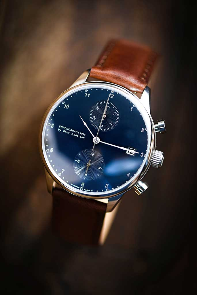 About Vintage 1815 Chronograph, Steel / Blue Sunray