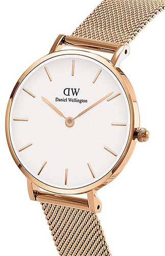 Goldene Daniel Wellington Damen Armbanduhr