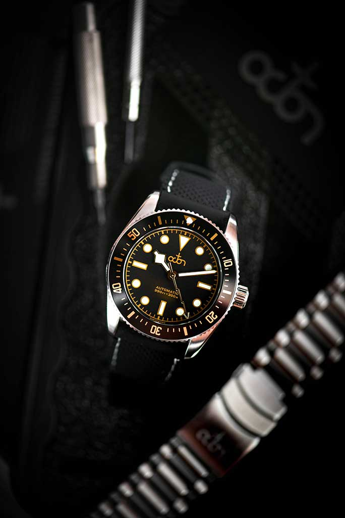 Octon Watches - Black Gold Watch