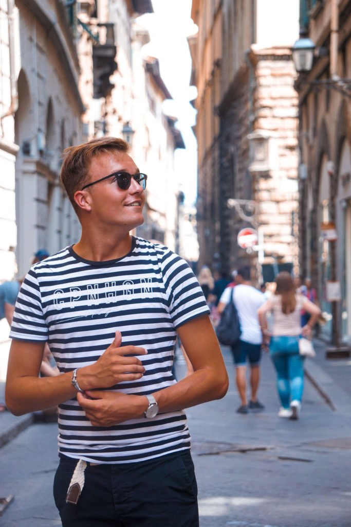 The lifestyle blogger Joris Vida in Florence.