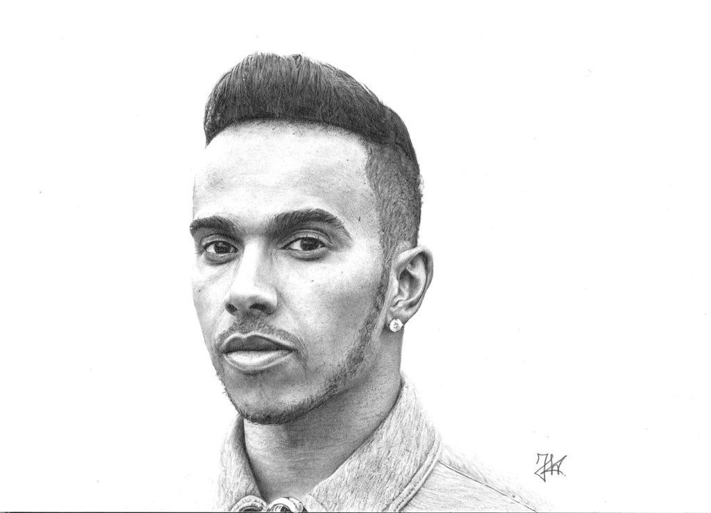 Lewis Hamilton Drawing by Joris