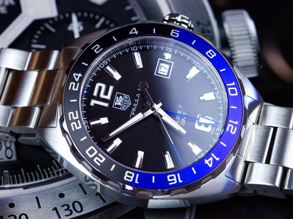 """TAG Heuer """"Batman"""" GMT Formula 1 Calibre 7 ETA2893-2"""