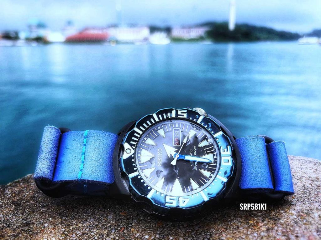 Seiko SRP581 K1: Imperfections exists amongst all of us, just like the imperfections within this shot of the Seiko Sea Monster