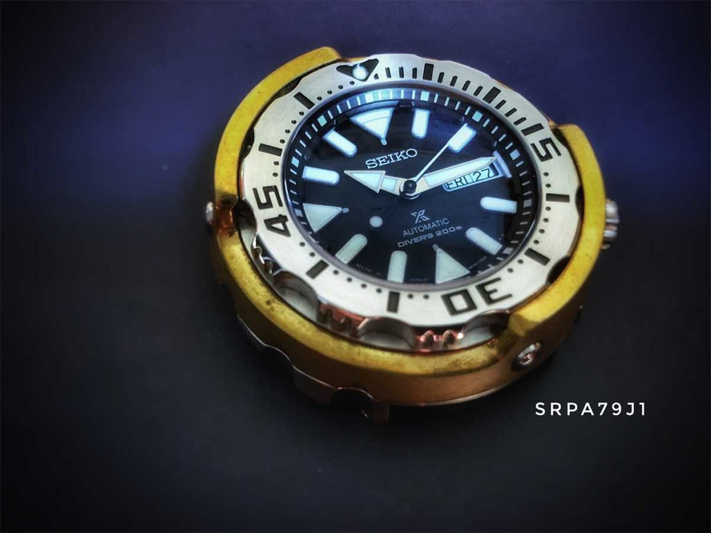 Seiko SRPA79 Scallop Brass Shroud: They nicknamed this Seiko as the Scallop for its size