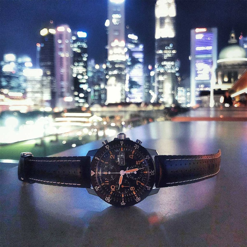Sinn 103 against the city skyline of the Financial District
