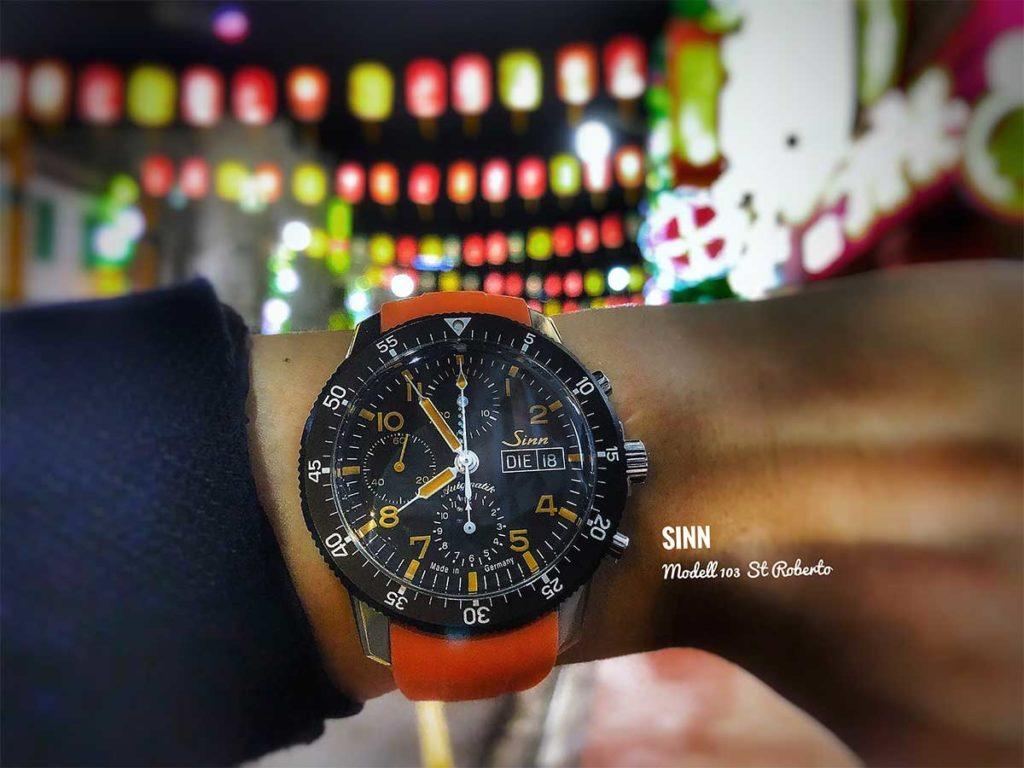 Sinn 103 ST ROBERTO: All of us see the world with some form of distortion in one way or another, just like this shot of the Sinn 103