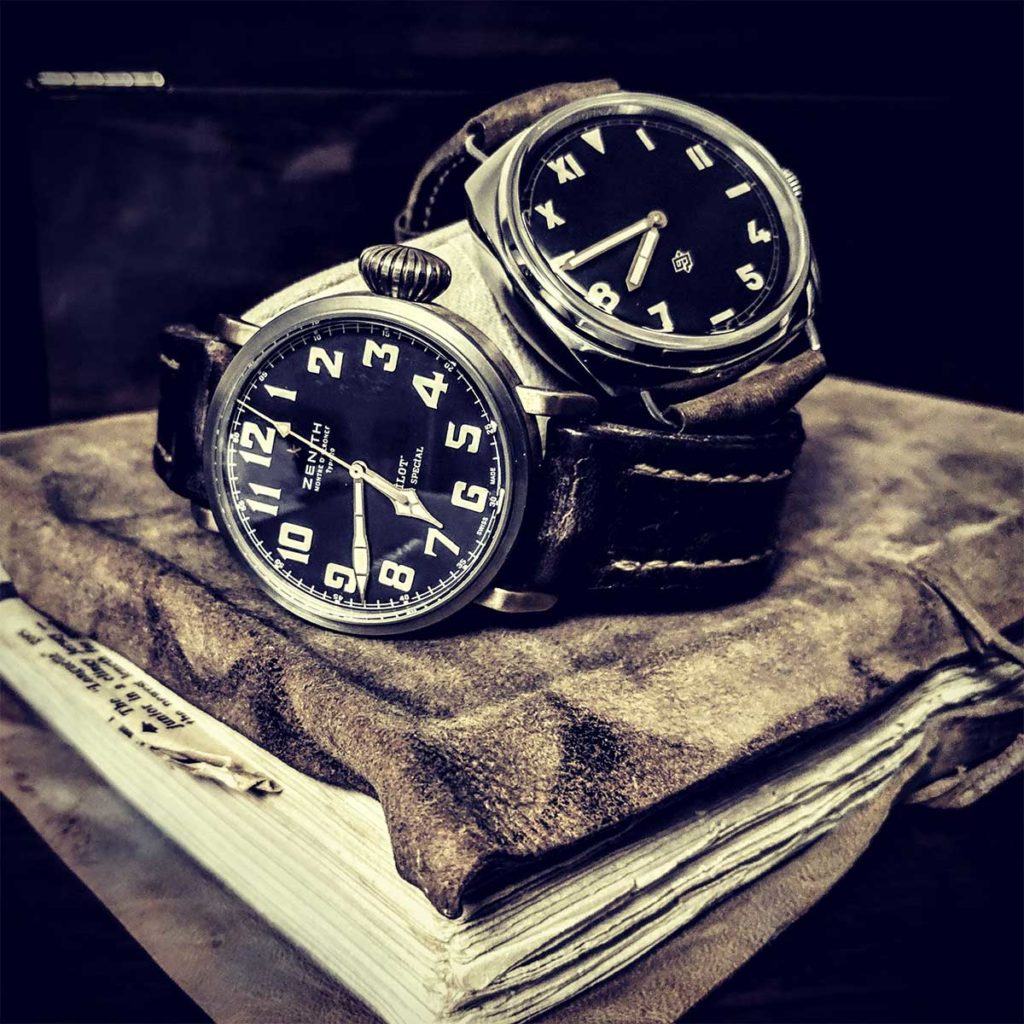 Zenith Type 20 and Panerai 424