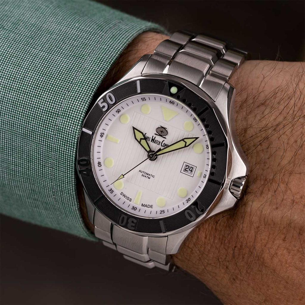 White 300m Diver Swiss Watch Company