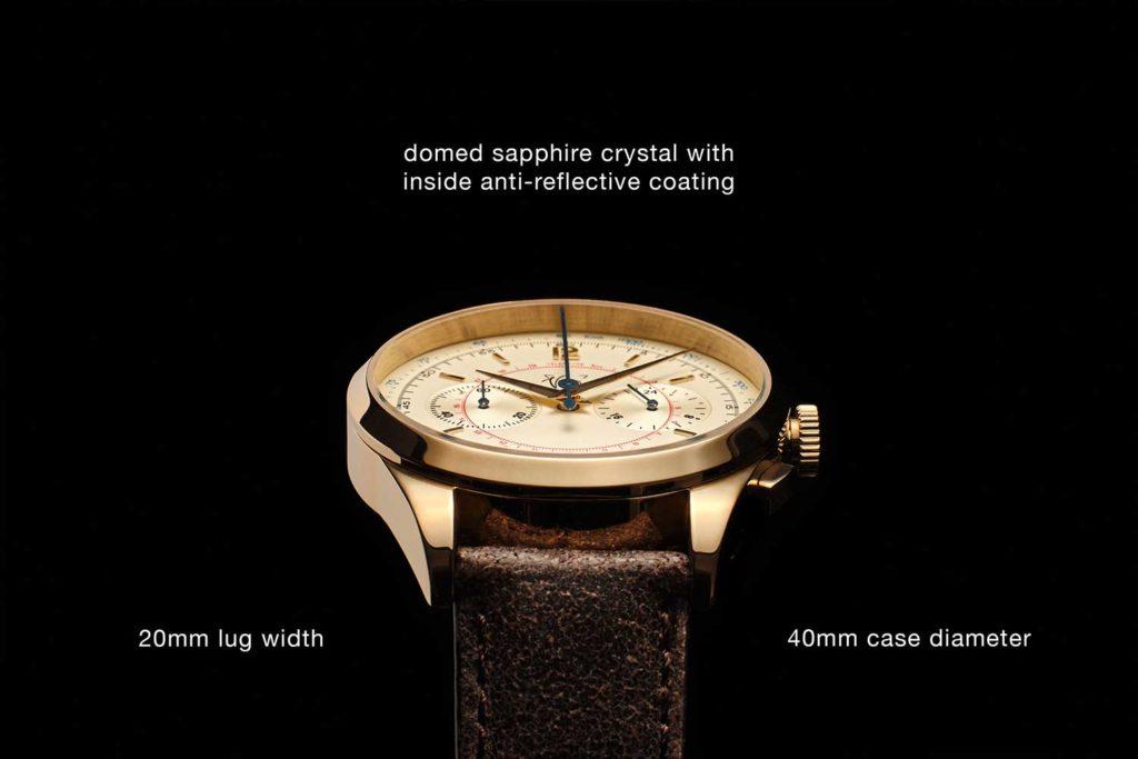 Vintro Le Mans 1952 Chronograph Crystal