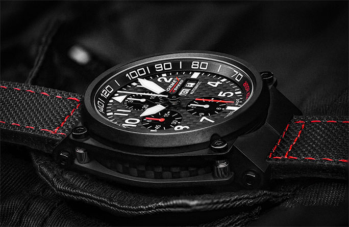 PILOT AUTOMATIC CHRONOGRAPH CARBON DIAL BLACK LIMITED EDITION