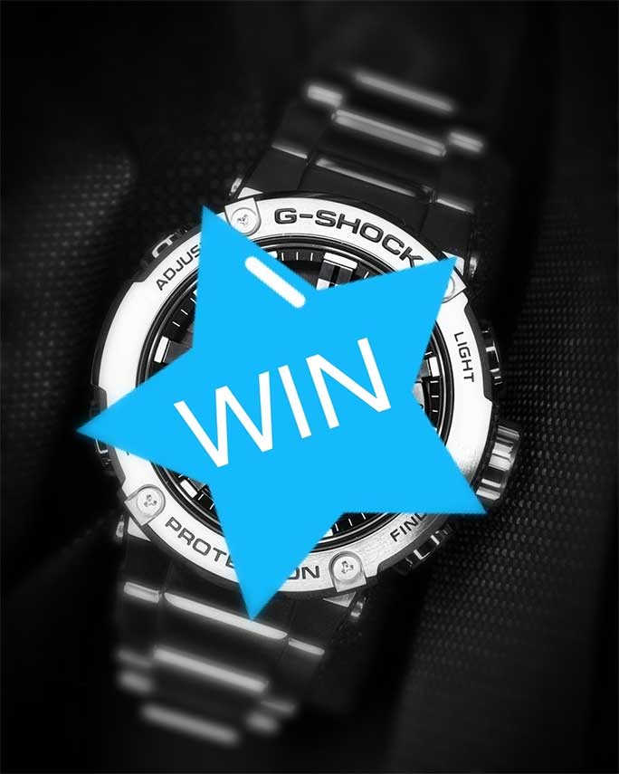 WIN this new CASIO G-SHOCK G-STEEL GST-B200D-1AER worth 349,- €!