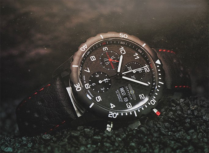 ZEPPELIN Night Cruise Chronograph Alain Robert Limited Edition Ref. 7216-2
