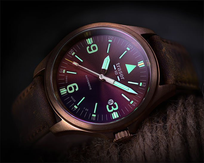 traser P67 Officer Pro Automatic Bronze Brown - 108073