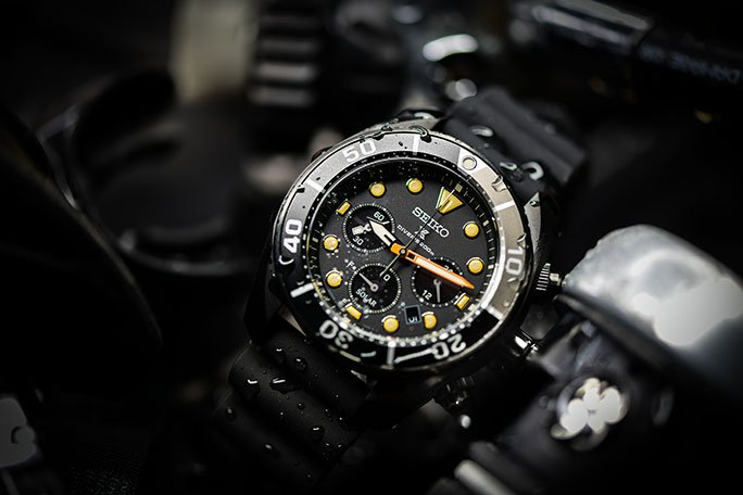 "SEIKO PROSPEX DIVERS SOLAR-CHRONOGRAPH ""SUMO BLACK SERIES LIMITED EDITION"" SSC761J1"
