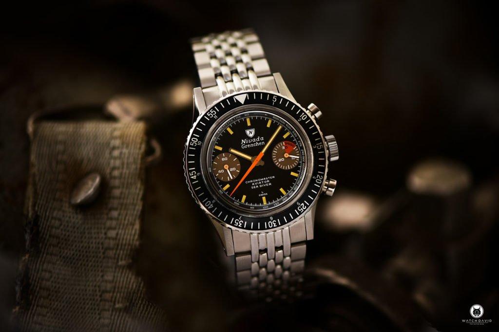 Nivada Grenchen Chronomaster Aviator Sea Diver Manual 86012M