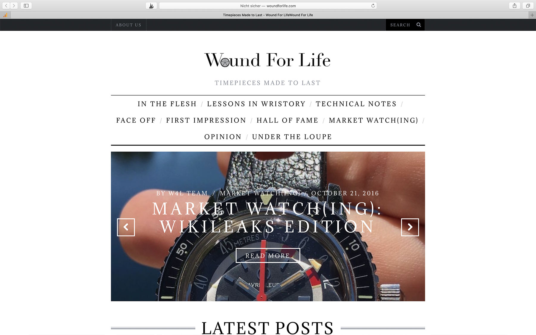 Watch Blogs wound for life
