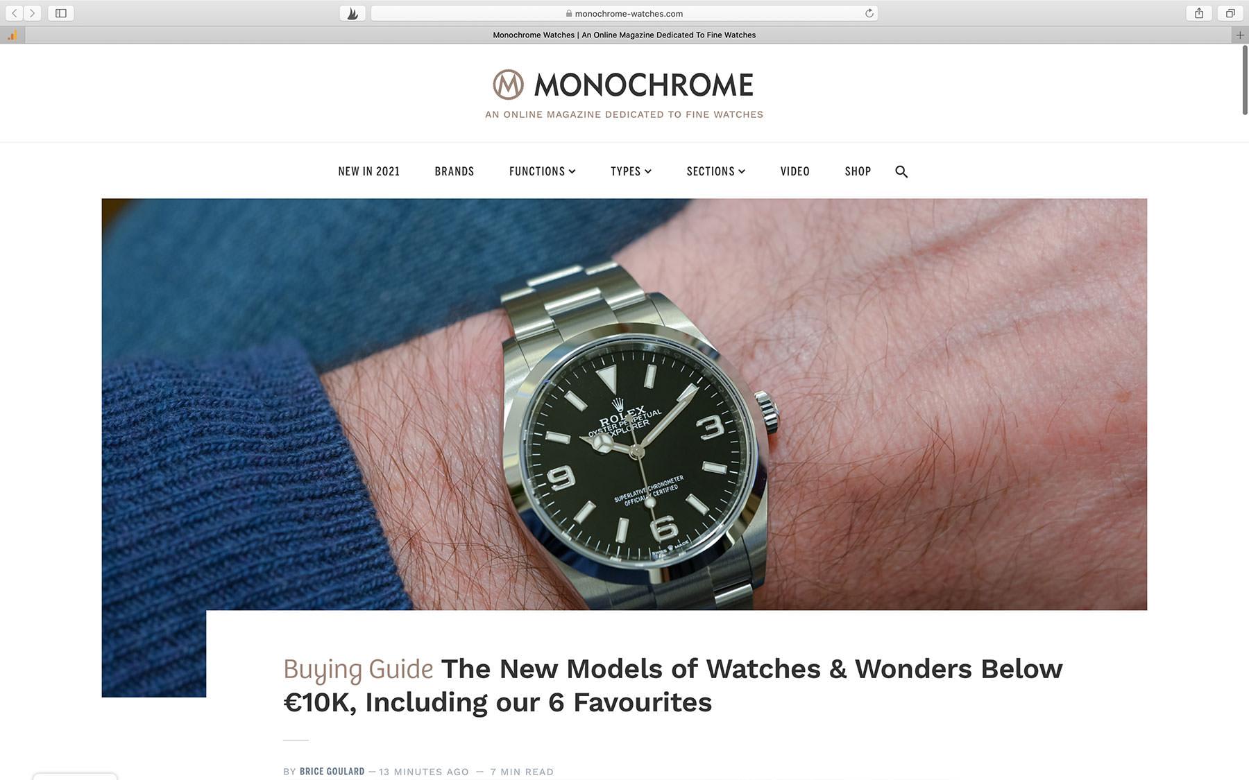 Watch Magazine MONOCHROME