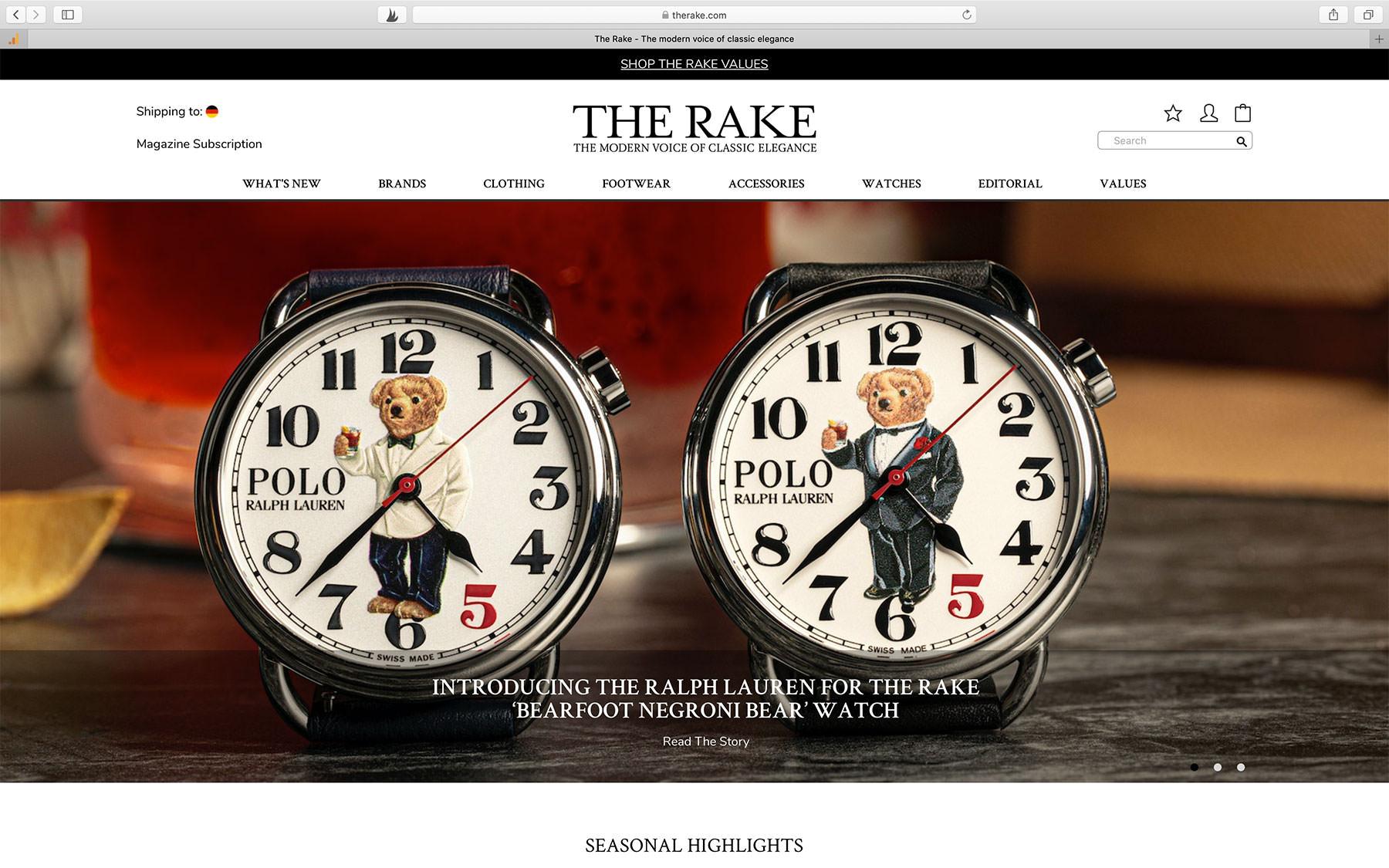 Watch Magazine The Rake