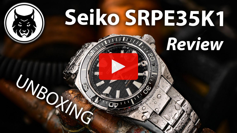 Dive Watch Seiko Prospex King Samurai SRPE35K1 Video Review YOUTUBE